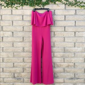 NWT Lovers + Friends Nikki Fuchsia Pink Jumpsuit
